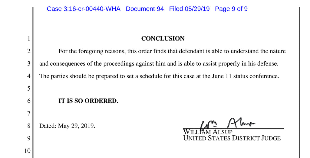 USA v Nikulin July 2019 Case Update – Mad Dog PAC