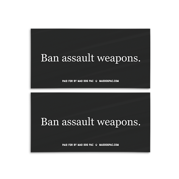 Ban Assault Weapons Bumper Sticker Pack