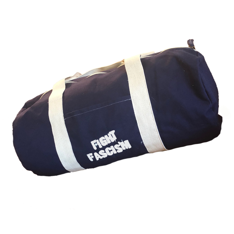Fight Fascism Blue Duffel