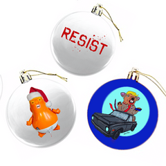 Mad Dog Resistance Ornaments