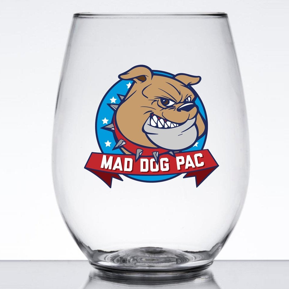 Mad Dog Wine Glass Set