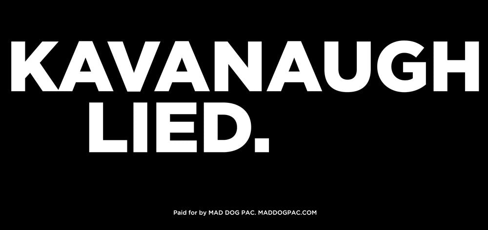 Kavanaugh Lies Mobile Billboard - DC