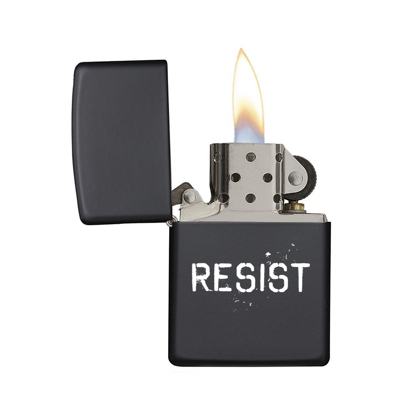 Flip Top Zippo-Style Resist Lighter