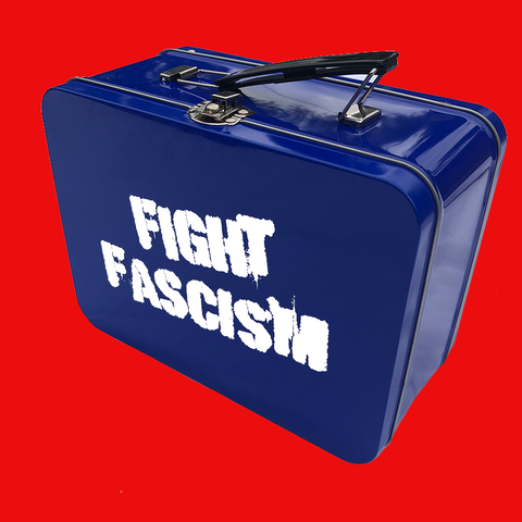 Fight Fascism Retro Lunch Box