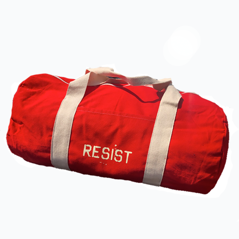 Resist Red Duffel Bag