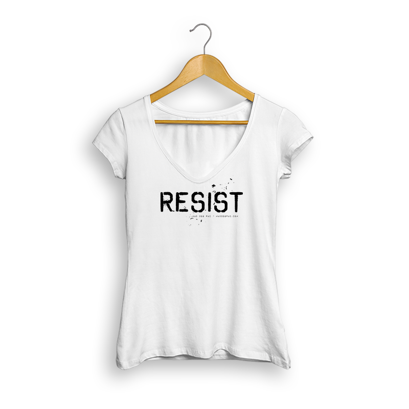 Resist Ladies' V-Neck (White)