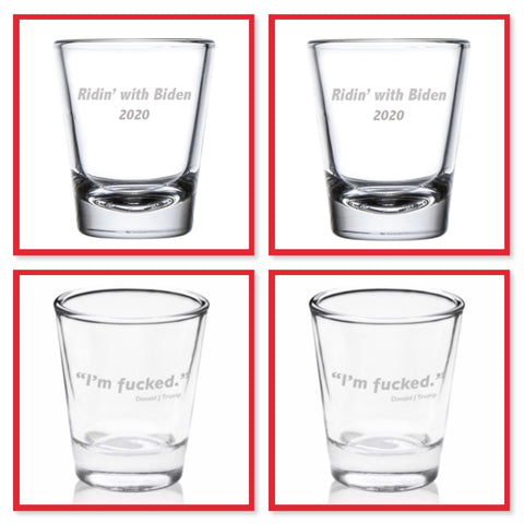 Presidential Shot Glass - Mixed Set of 4