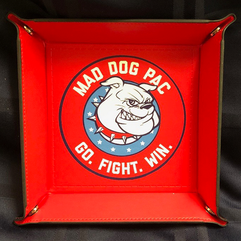Mad Dog Red Valet Tray