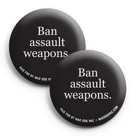 Ban Assault Weapons Button Pack