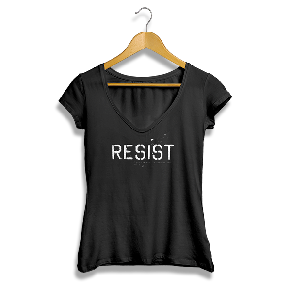 Resist Ladies' V-Neck (black)