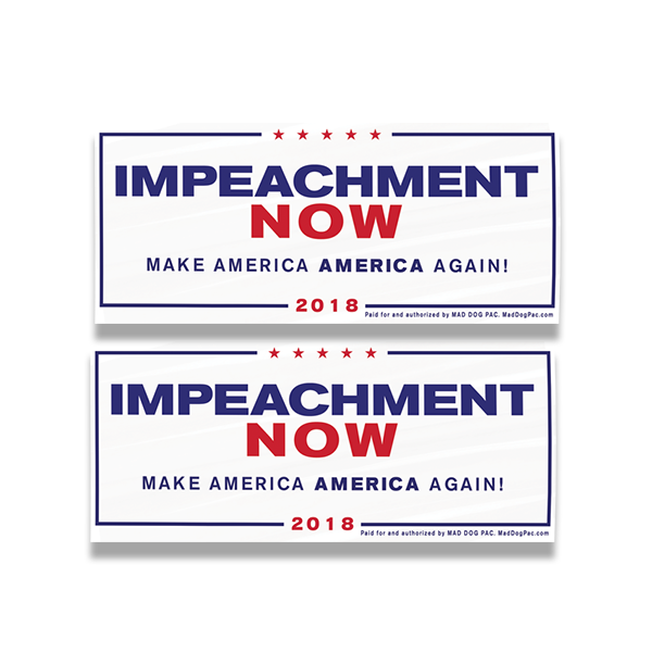 Impeachment Now Bumper Sticker Pack