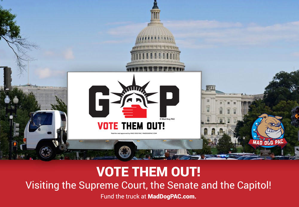 """Vote Them Out"" Rolling Billboard"