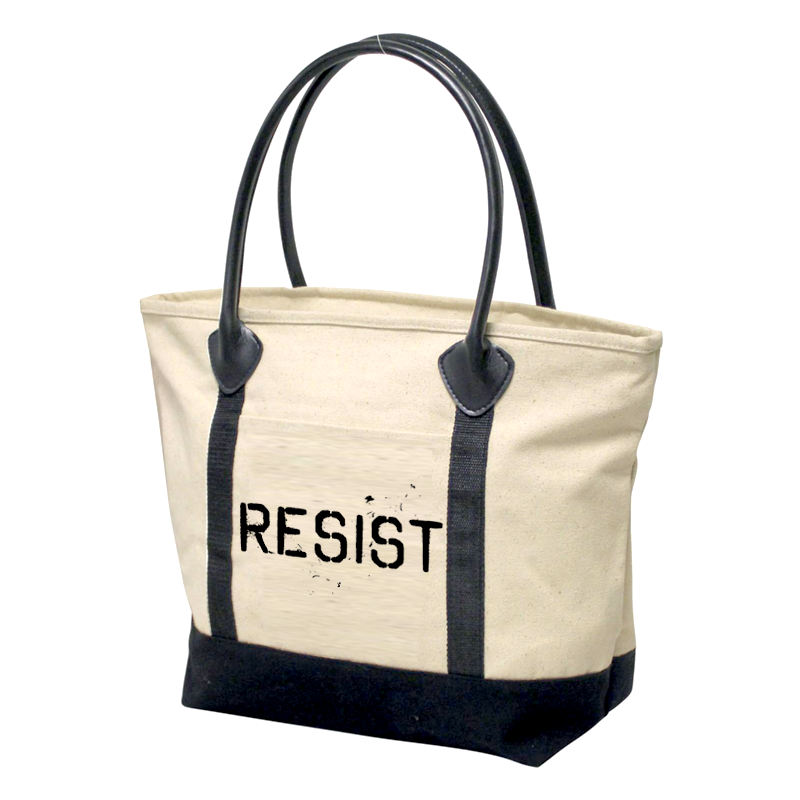 Resist Cotton Boat Tote