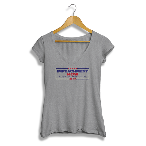 Impeachment Now Ladies' V-Neck
