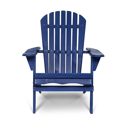 Pleasant Patio Outdoor Folding Wood Adirondack Chair In Navy Blue Fir Wood Gamerscity Chair Design For Home Gamerscityorg