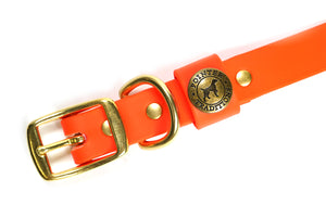 Hunting Dog Center Ring Collar - Blaze Orange