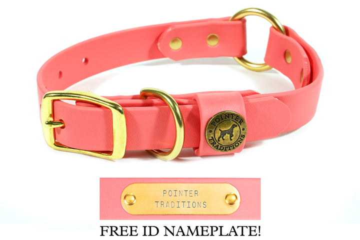 Hunting Dog Center Ring Collar - Coral