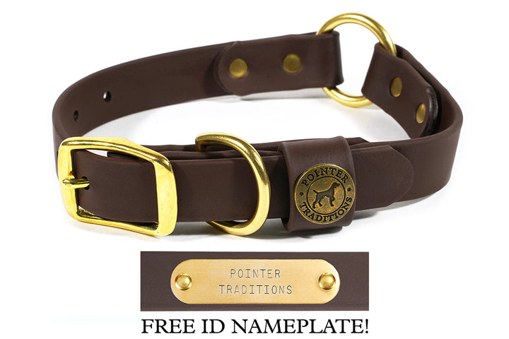 Hunting Dog Center Ring Collar - Leather Brown