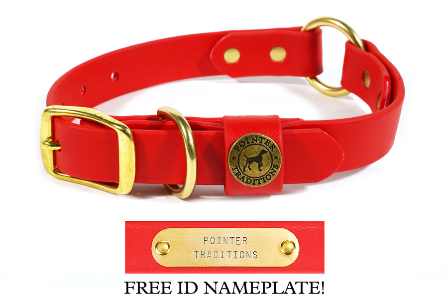 Hunting Dog Center Ring Collar - Red