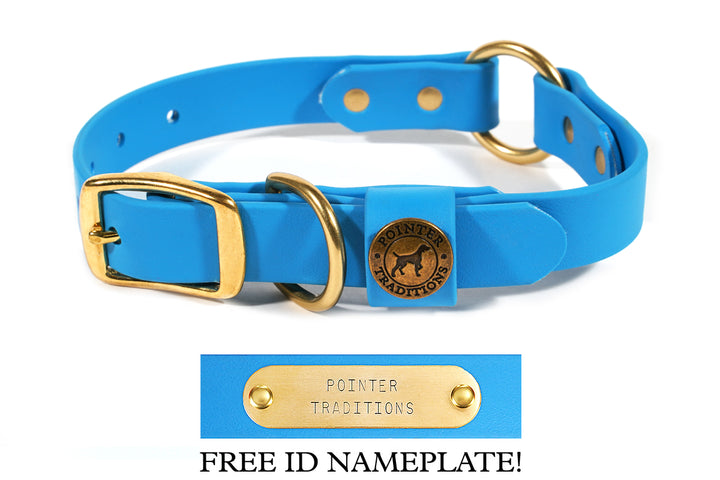 Hunting Dog Center Ring Collar - Sky Blue
