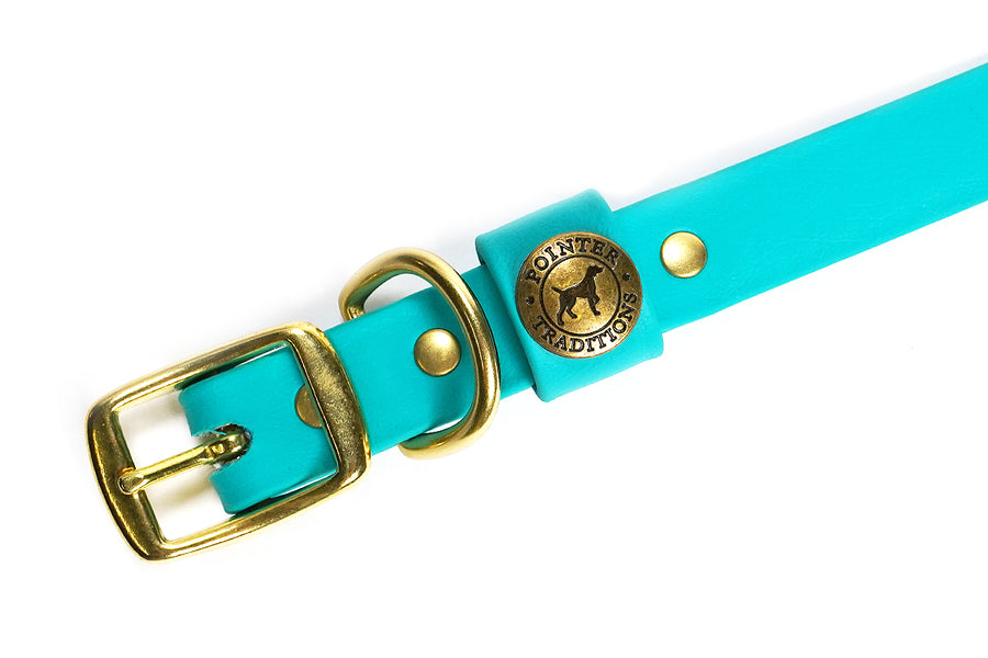 Hunting Dog Center Ring Collar - Teal