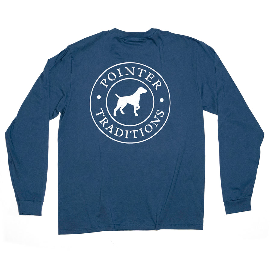 Original Pointer Tee Long Sleeve - River Blue