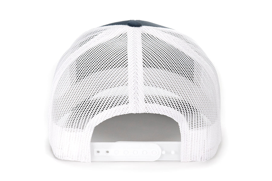 Pointer Dog Patch Mesh Back Hat - Navy/White