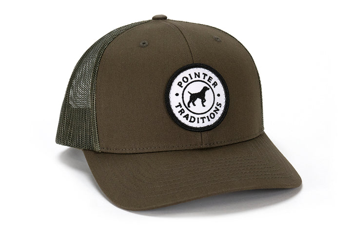 Pointer Dog Patch Mesh Back Hat - Moss