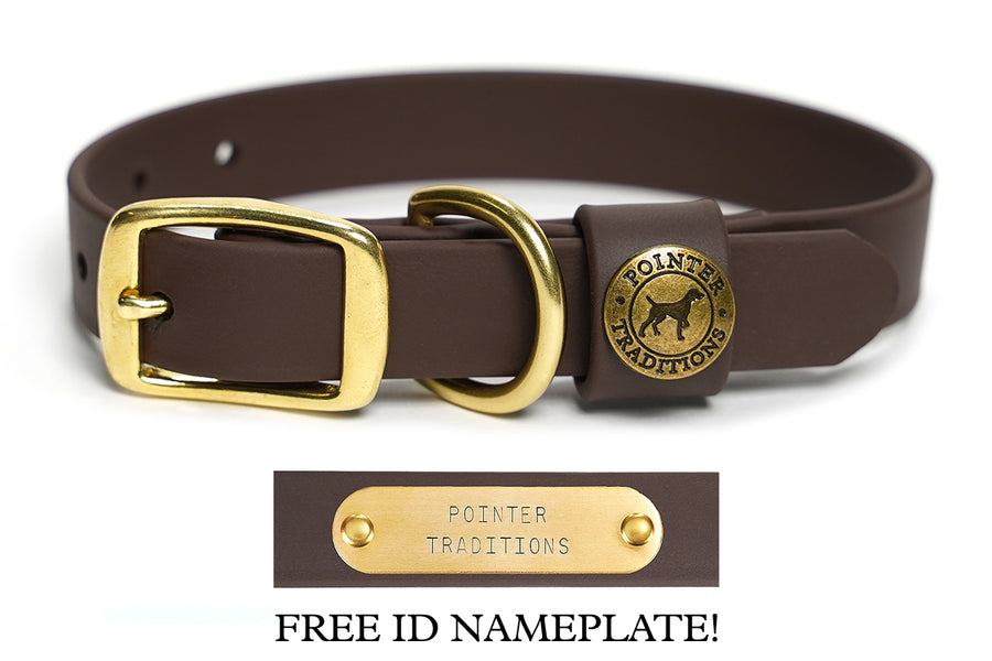 Sporting Dog Collar - Leather Brown
