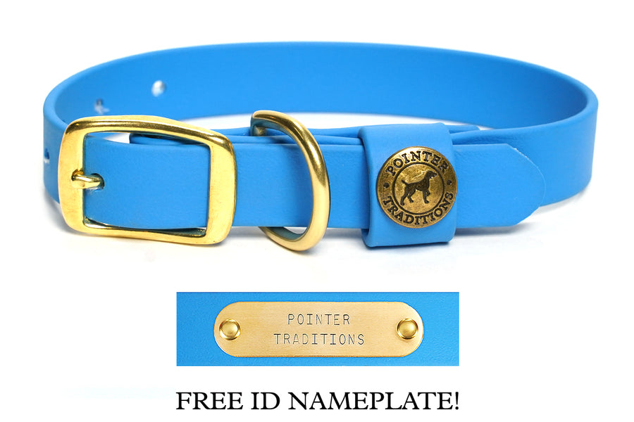 Sporting Dog Collar - Sky Blue