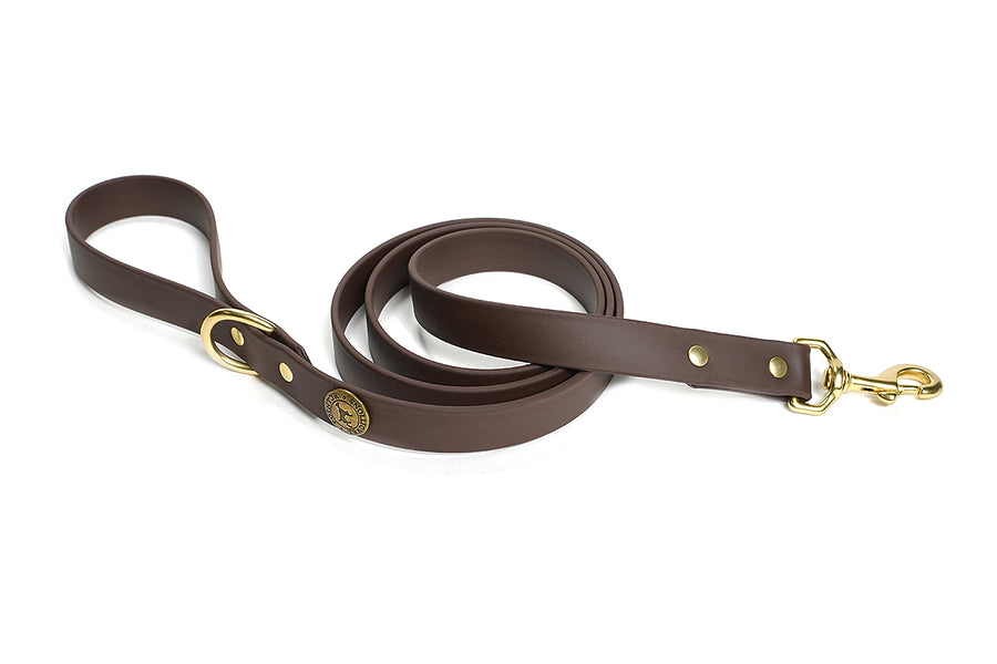 Sporting Dog Leash - Leather Brown