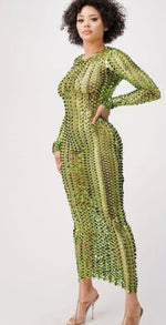 Metallic Net Maxi
