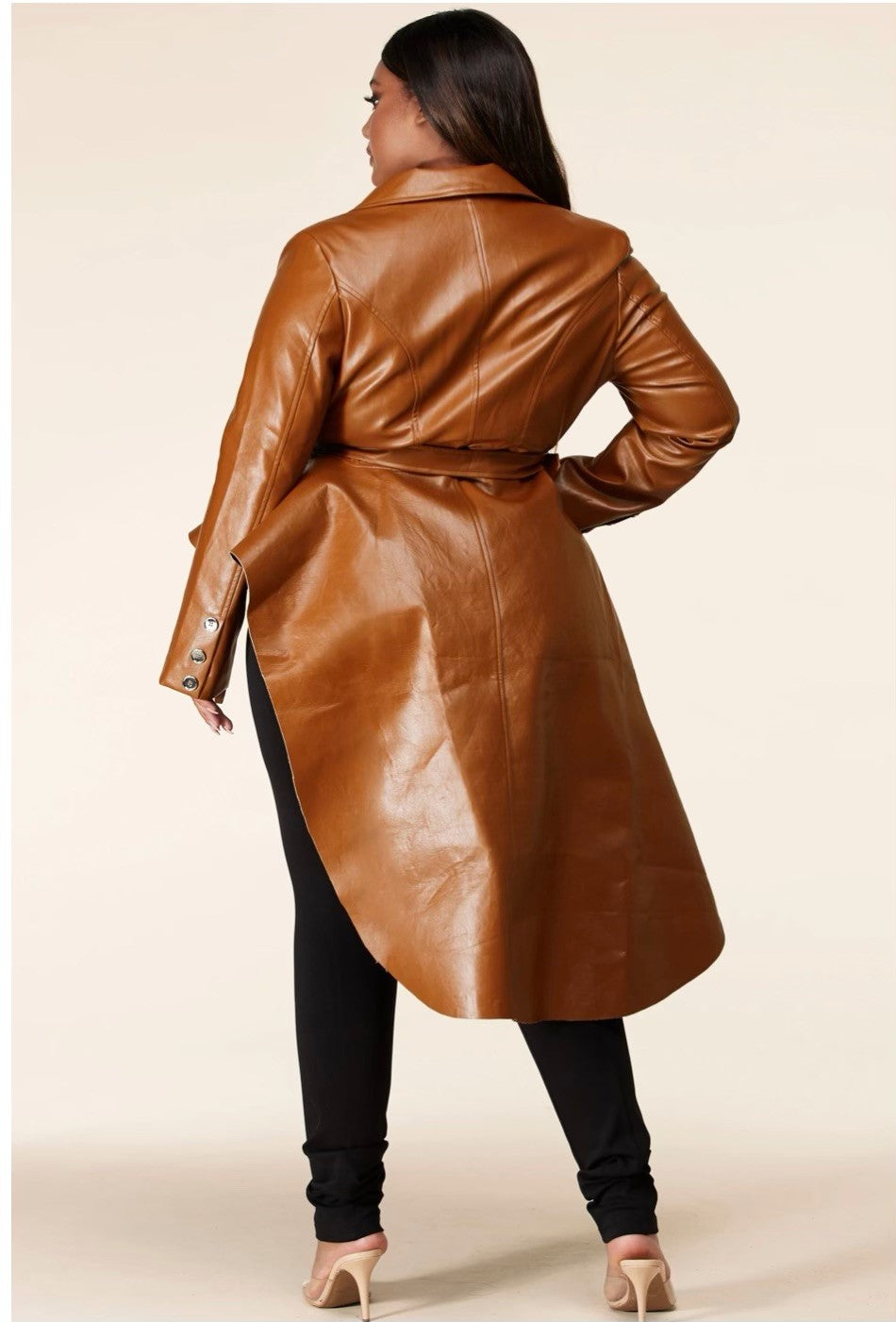 Vegan Leather Jacket Plus Size