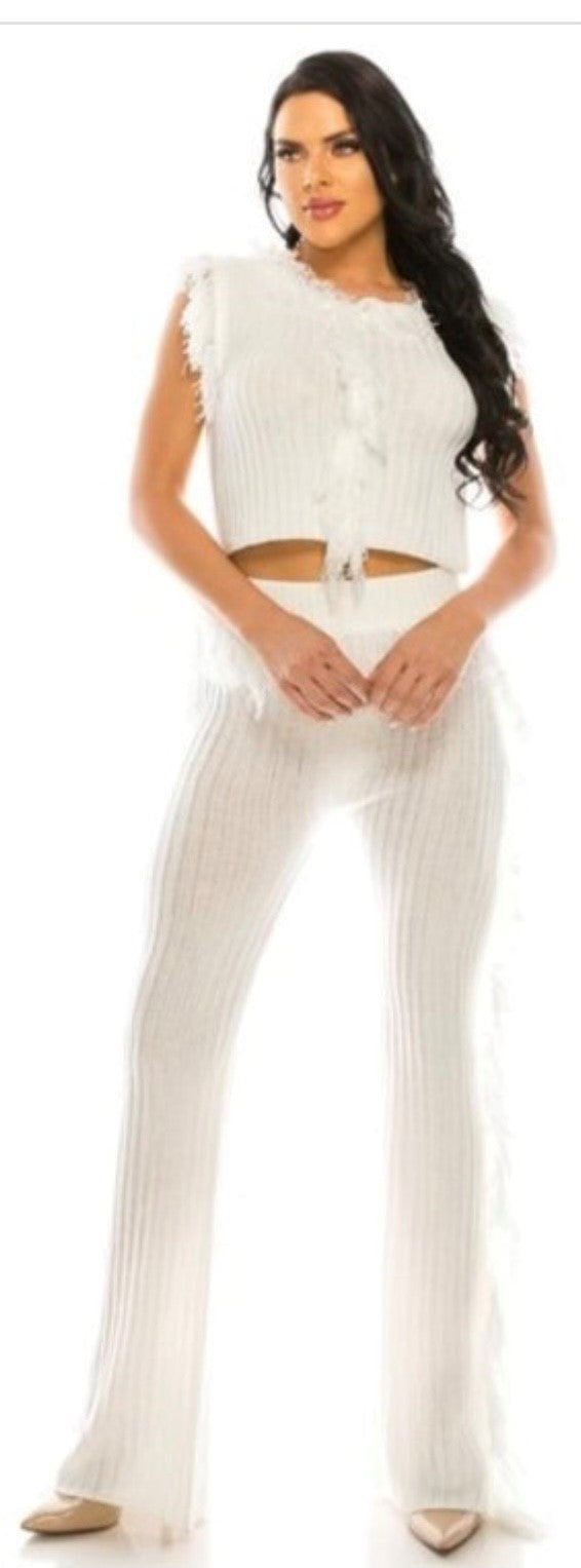 Summer Knit Pant Set
