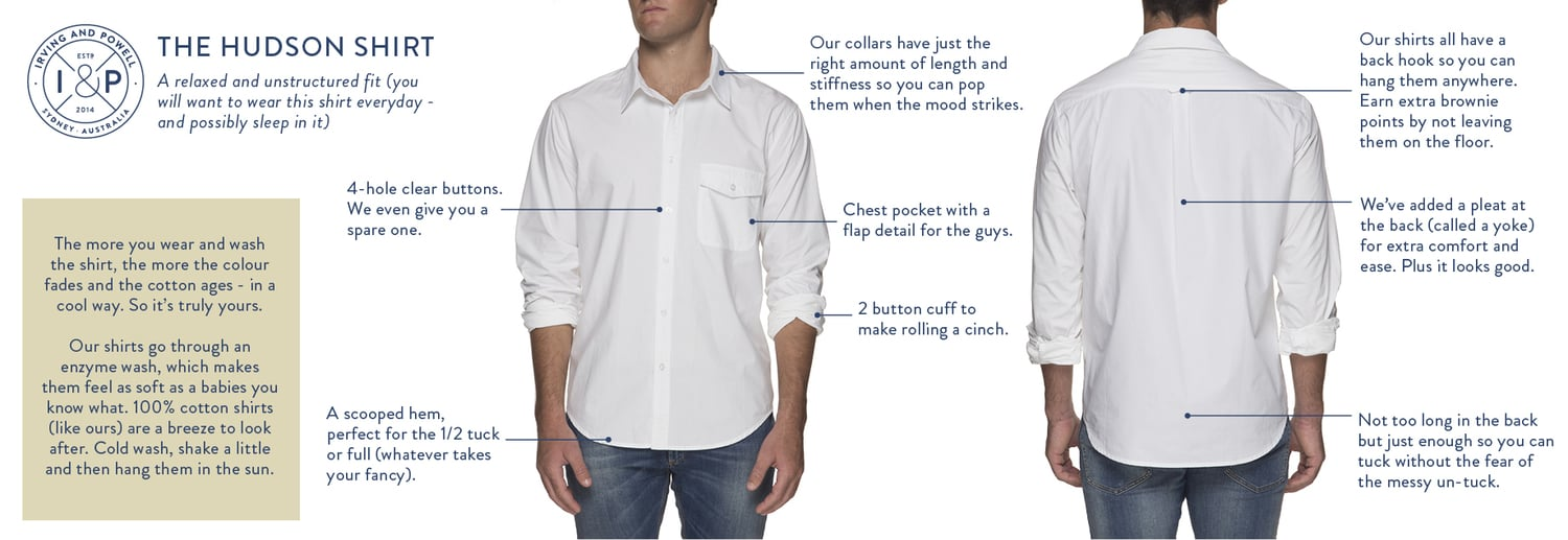 Anatomy of a Hudson Shirt – Irving & Powell