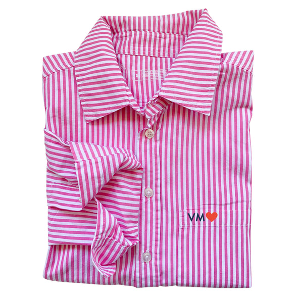 Franklin Stripe Shirt - Pink/White