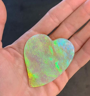 You're welcome! Just in time for Valentine's Day... after four years of waiting, finally an opal heart as big and beautiful as mine!