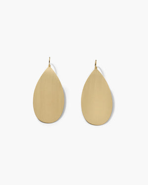 Yellow Gold 18K Pear Drop Earrings, Extra Large - Irene Neuwirth