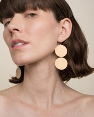Rose Gold 18K Double Circle Earrings - Irene Neuwirth