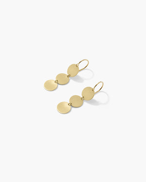 Yellow Gold 18K Triple Circle Earrings - Irene Neuwirth