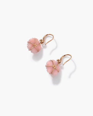 Pink Opal Cherry Blossom Drop Earrings 18K Rose Gold - Irene Neuwirth
