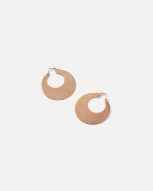 Rose Gold 18K Crescent Hoops, Large - Irene Neuwirth