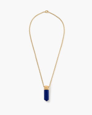 Lapis Crystal Necklace 18K Yellow Gold - Irene Neuwirth