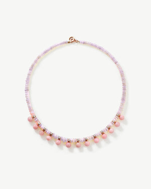 One of a Kind Pink Opal Gumball Candy Necklace - Irene Neuwirth
