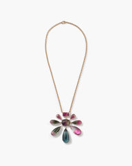 One of a Kind Tourmaline Galaxy Pendant Necklace 18K Rose Gold - Irene Neuwirth