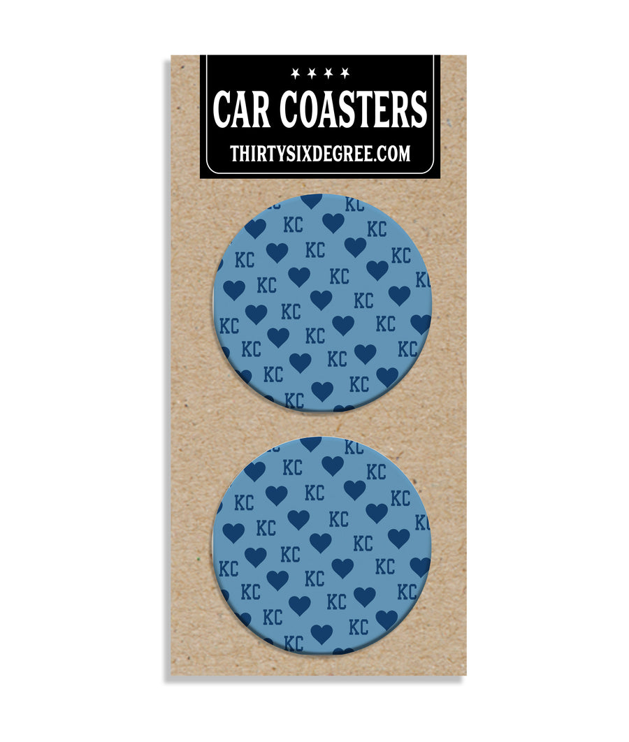 Kansas City Blue Heart Car Coaster