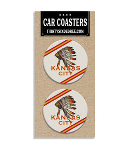 Kansas City Headress Car Coaster