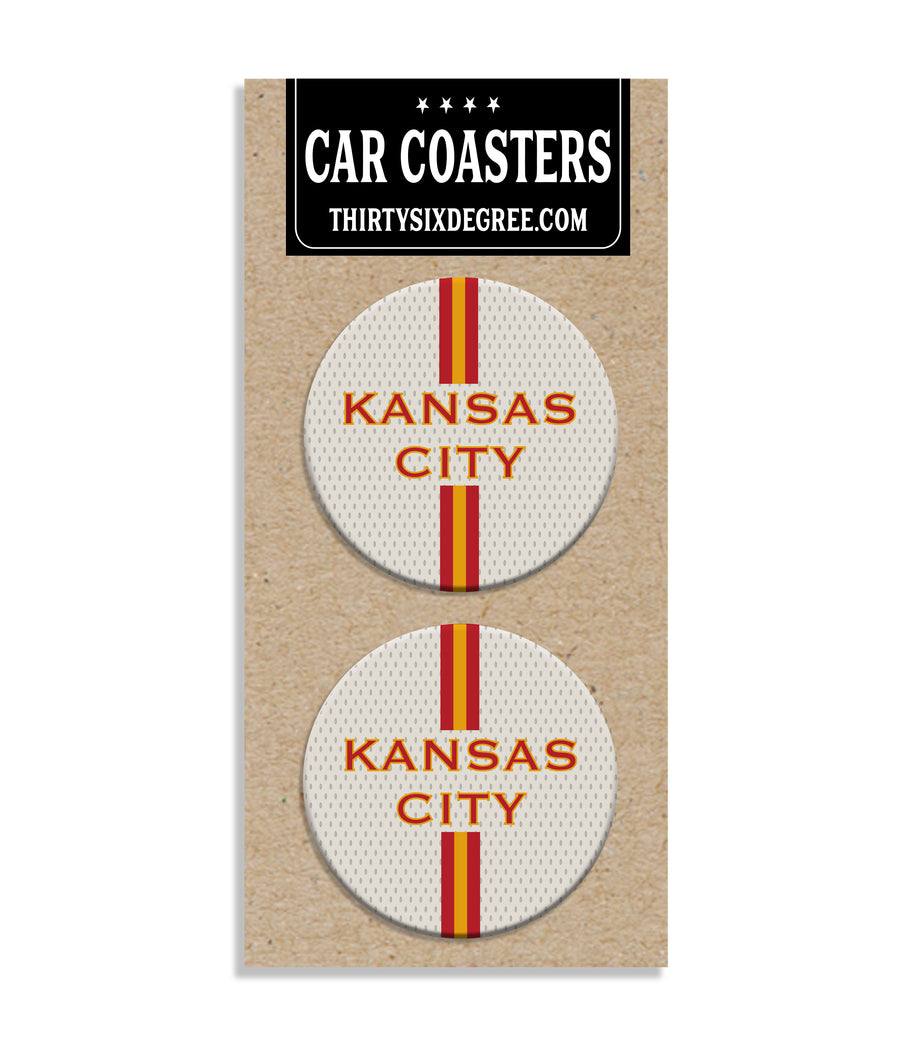 Kansas City Jersey Stripe Car Coaster