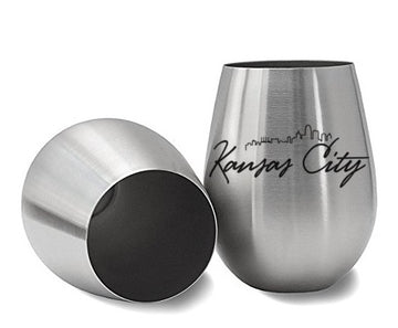 Kansas City Skyline Wine Glass