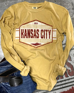 Distressed Kansas City Skyline T-Shirt